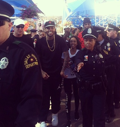 Chris Brown And Karrueche Enjoy A Date At The Texas State Fair