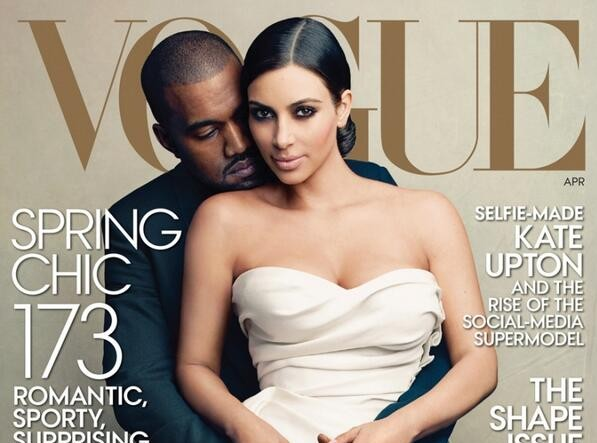 Social Media Takes Aim at Vogue After Kim and Kanye Land Cover