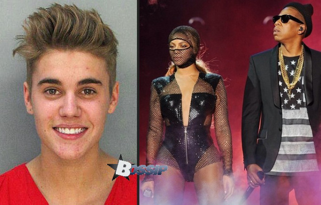 """Shots Fired: Jay Z And Queen Petty Beyoncé Show Justin Bieber's Mugshot On Stage """"Even The Greatest Fall"""""""