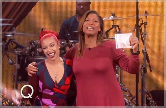 Keyshia Cole Stops By Queen Latifah Show