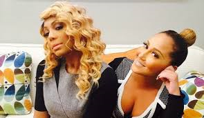 CHRIS BROWN BEEFING WITH TAMAR BRAXTON AND ADRIENNE BAILON