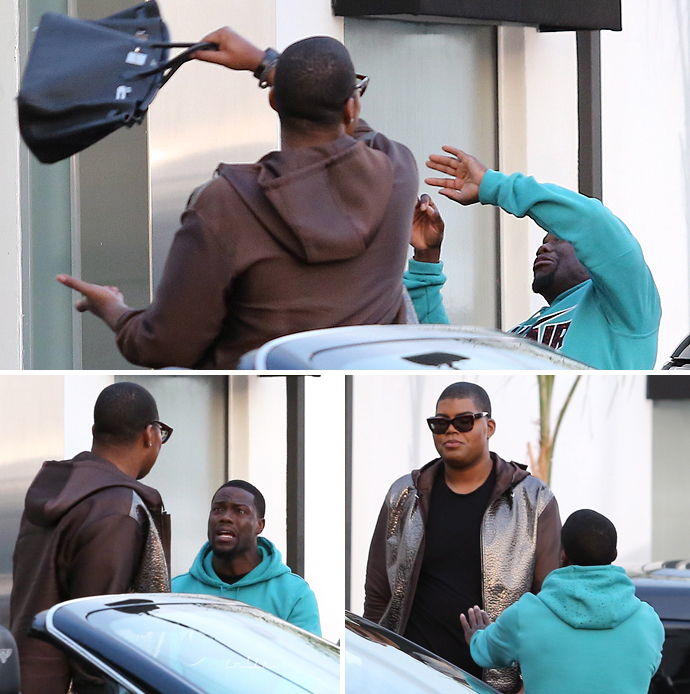E.J. Johnson Clobbers Kevin Hart With his Purse