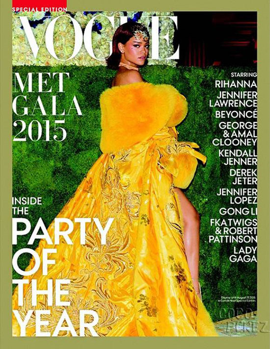 Queen of the Ball: Rihanna Graces Vogue Met Gala 2015 Cover