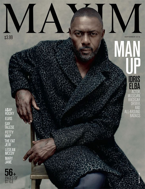 CLASSIC MAN: Idris Elba Handsomely MANS UP For MAXIM's September 2015 Cover